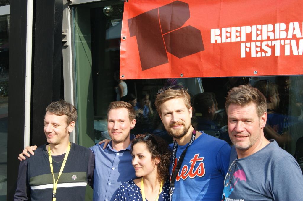 v.l.n.r. Detlef Schwarte (Verantwortlicher Konferenzen), Tuomo Tähtinen (Music Finland), Elena Voskuhl (Verantwortliche Kunst), Björn Pfarr (verantwortlicher Musik) und Alex Schulz (Geschäftsführer des Festivals)